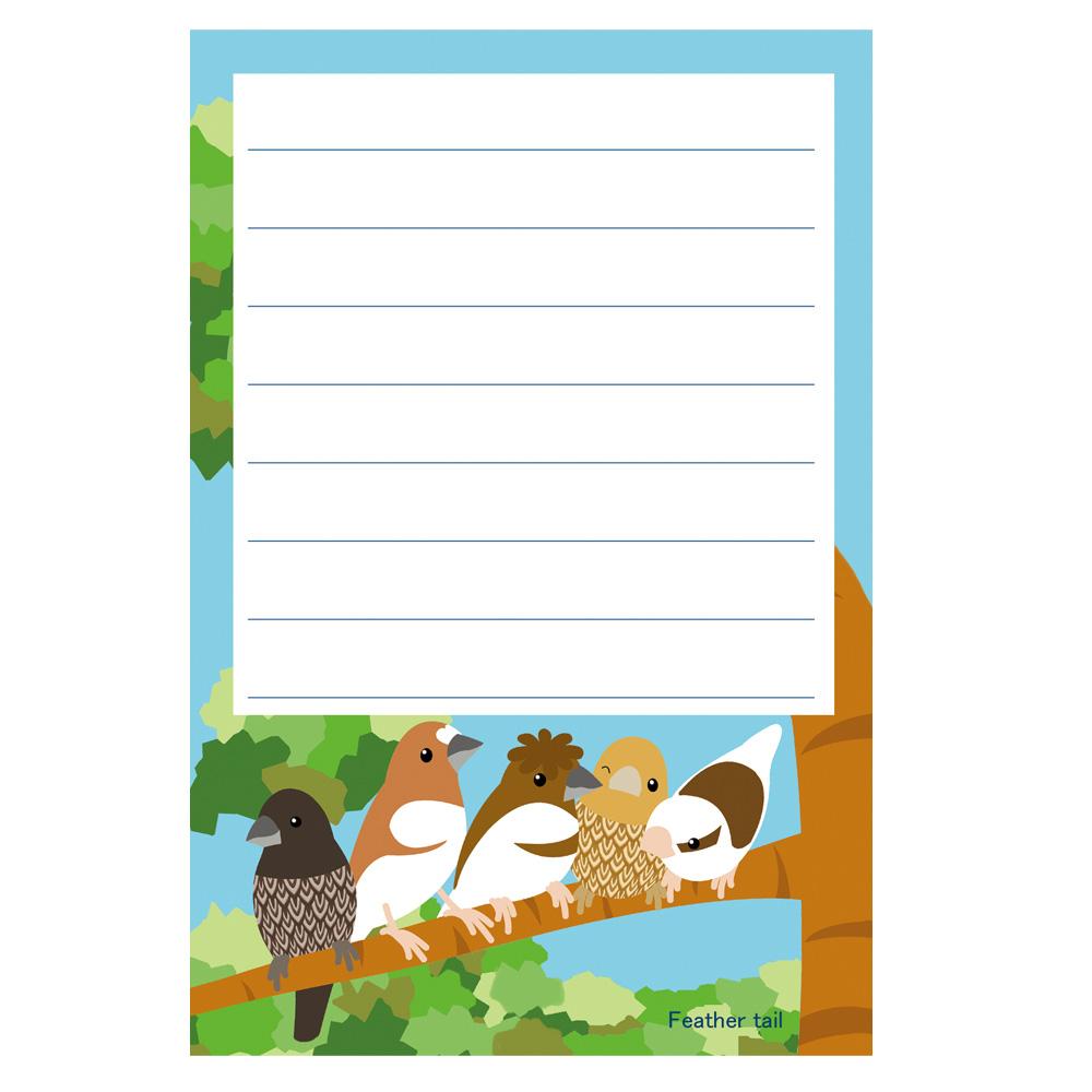 【FT&ぶんちょ屋】ブロックメモ帳4/十姉妹◆クロネコDM便可能