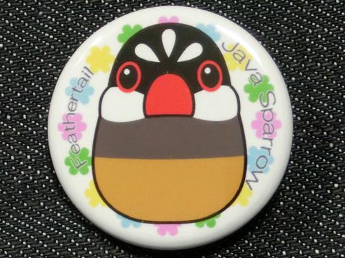 【FT&ぶんちょ屋】缶バッチ6/文鳥・桜◆クロネコDM便可能