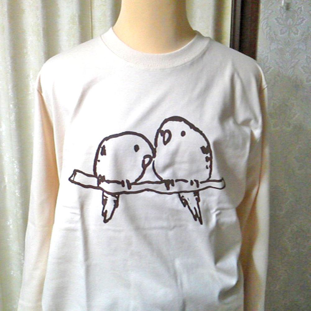 【ぴよぴよガオー】長袖Tシャツ・男女兼用S/サザナミインコ