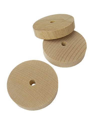 9991390【BMオリジナル】無垢木円盤型55×10mm◆