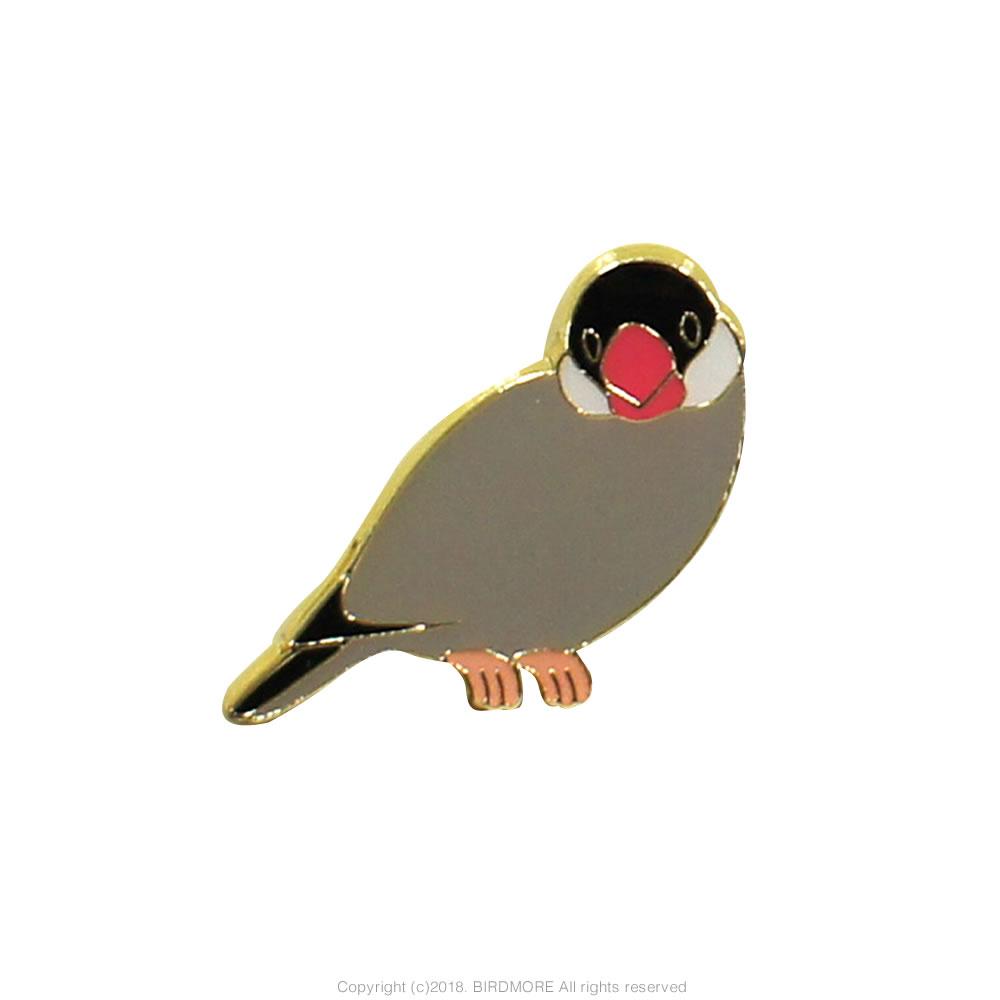 9997065【pi:】ピンズ/文鳥・桜◆クロネコDM便可能