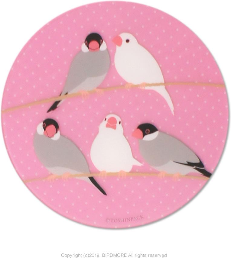 9997432【pi:】アクリルコースター/文鳥◆クロネコDM便可能