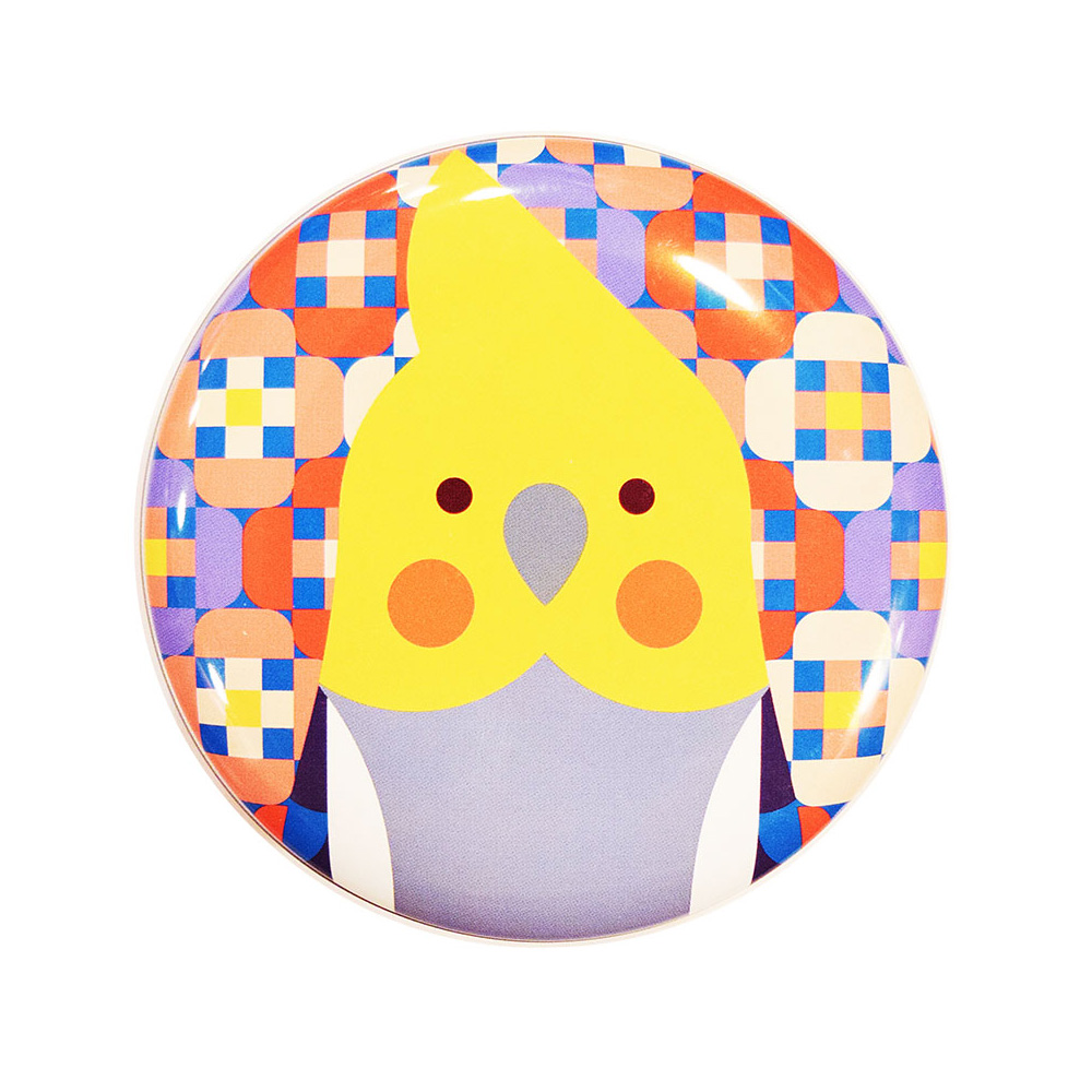 9997758【KOTORITACHI】丸缶チョコ/オカメインコ