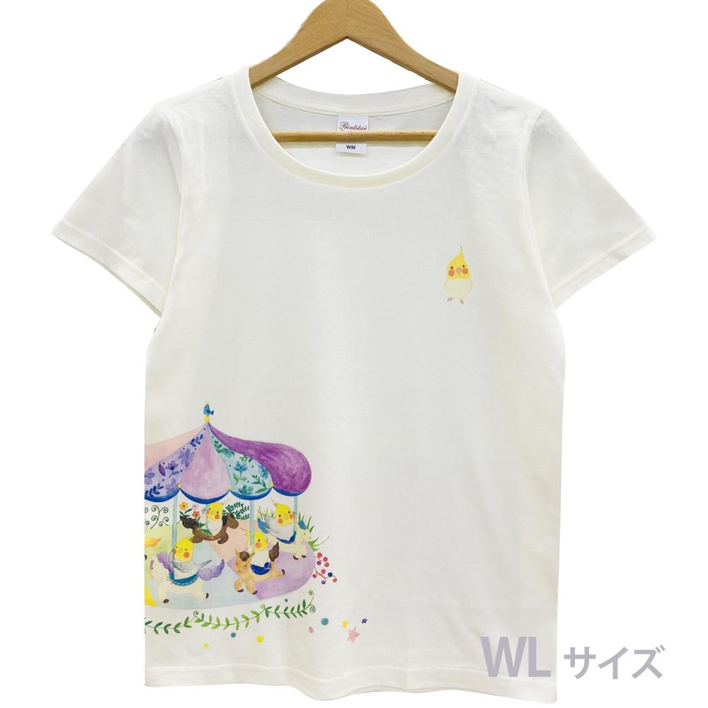 9998178【モンゴベス】 Tシャツ・女性用L / メリーゴーランド ◆