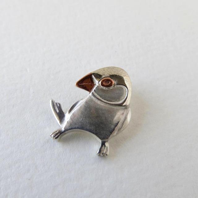 【HEE-HAW】シルバーTOP・M/文鳥