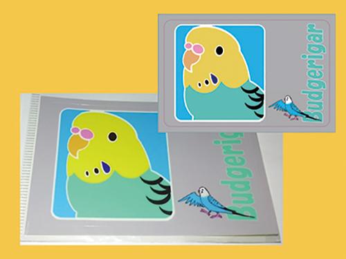 【まぢかるどりぃまぁ】カードサイズシール/セキセイ・黄緑◆