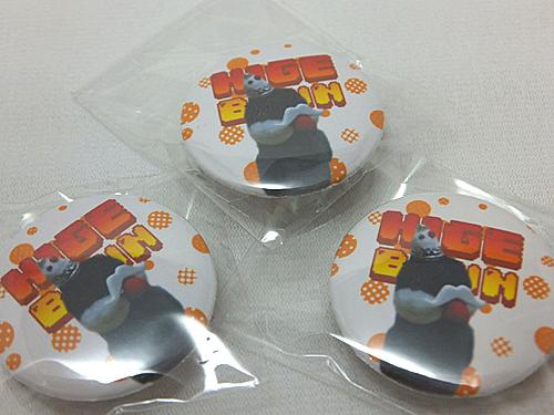 【ぴよぴよガオー】缶バッチ・ヒゲぶん/文鳥・桜◆◆
