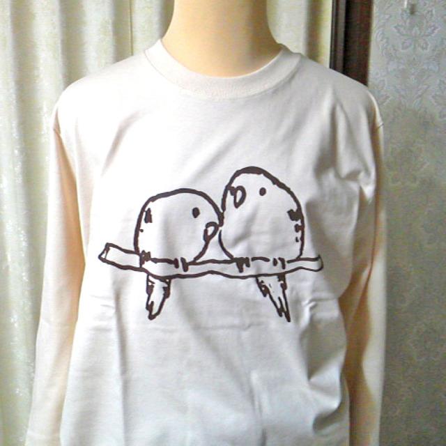 【ぴよぴよガオー】長袖Tシャツ・男女兼用L/サザナミインコ