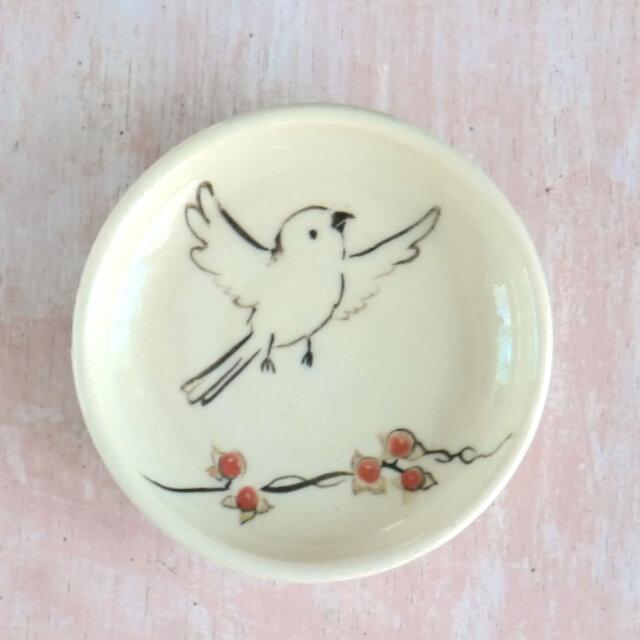【小鳥雑貨はとはな】★豆皿/シマエナガ