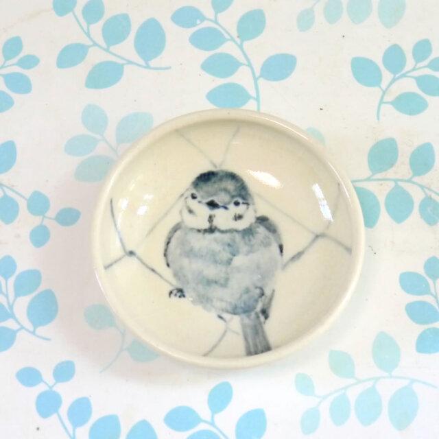 【小鳥雑貨はとはな】★豆皿/フェンスとスズメ
