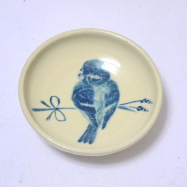 【小鳥雑貨はとはな】★豆皿/稲穂とスズメ