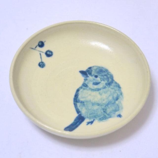 【小鳥雑貨はとはな】★豆皿/木の実とスズメ