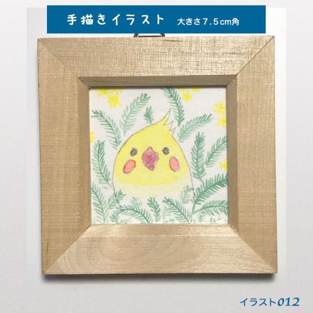 【珠とり屋】★イラスト012/オカメインコ