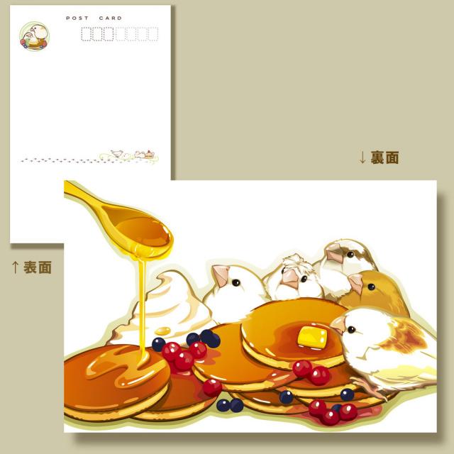 【ことりスイーツ】ポストカード20/十姉妹◆
