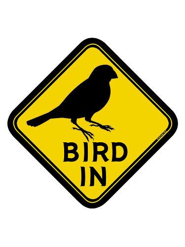 9992057【BMオリジナル】BIRD IN ステッカー 文鳥◆