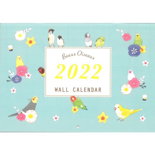 9996647【oriental berry】2022年 イラストWALLカレンダー/Beaux Oiseaux OC-7753◆