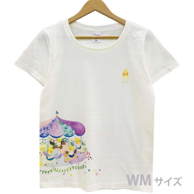 9998177【モンゴベス】 Tシャツ・女性用M / メリーゴーランド ◆