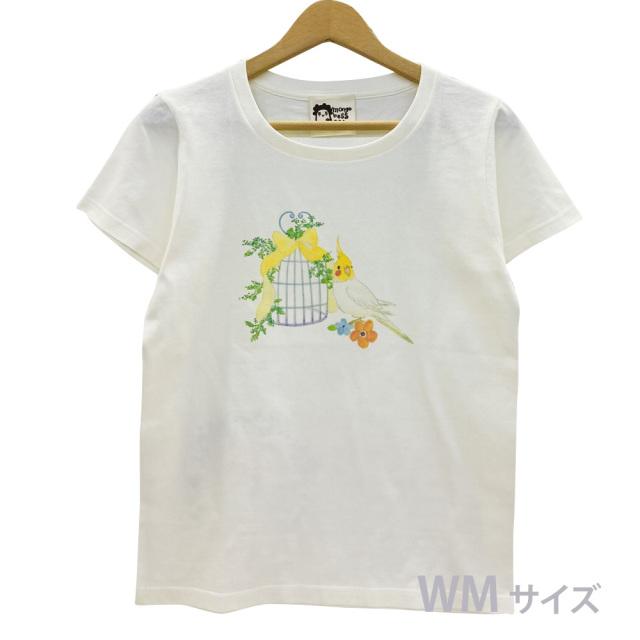 9998181【モンゴベス】 Tシャツ・女性用M / 鳥カゴ・オカメ ◆