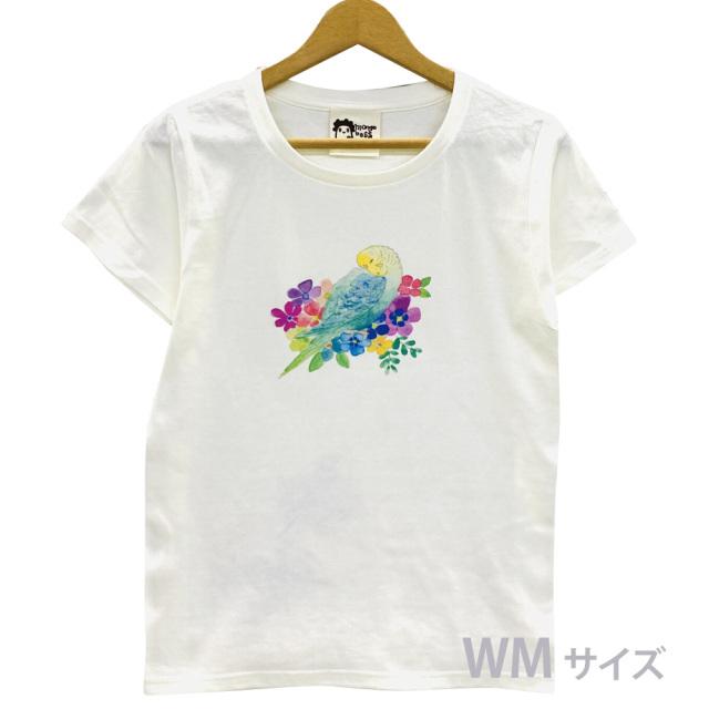 9998189【モンゴベス】 Tシャツ・女性用M / フラワー・セキセイレインボー ◆