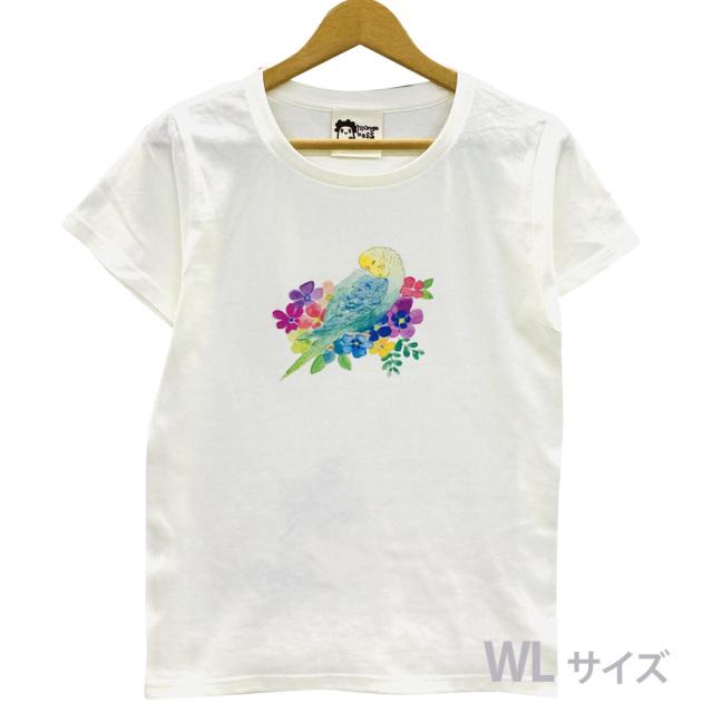 9998190【モンゴベス】 Tシャツ・女性用L / フラワー・セキセイレインボー ◆