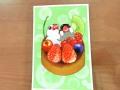 【親馬鹿倶楽部】ポストカード・タルト/文鳥・白&桜◆クロネコDM便可能