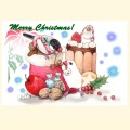 【親馬鹿倶楽部】クリスマスカード/文鳥
