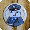 【fumi】★缶バッジ/マメルリハ・ブルー◆クロネコDM便可能