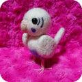 【fumi】★羊毛人形/セキセイ・白ハルクイン