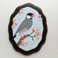 【HEE-HAW】★かべ掛けS・桜/文鳥・桜