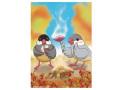 【FT&ぶんちょ屋】ポストカード・やきいも/文鳥◆クロネコDM便可能
