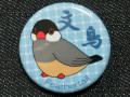 【FT&ぶんちょ屋】缶バッチ2青/文鳥・ノーマル◆クロネコDM便可能