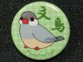 【Feather Tail】缶バッチ4緑/文鳥・シルバー◆クロネコDM便可能