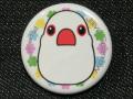 【FT&ぶんちょ屋】缶バッチ7/文鳥・白◆クロネコDM便可能