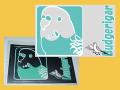 【まぢかるどりぃまぁ】★カードサイズシール/セキセイインコ◆クロネコDM便可能