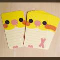 【いんこ屋堂】メッセージカード/オカメ・白◆