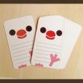【いんこ屋堂】メッセージカード/文鳥・白◆