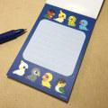 【いんこ屋堂】メモ帳/8羽の鳥・青◆クロネコDM便可能