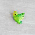 【小鳥雑貨はとはな】★小鳥ブローチ/セキセイ・黄緑
