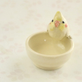 【小鳥雑貨はとはな】★陶器の小物入れ/オカメ・ルチノー