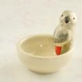 【小鳥雑貨はとはな】★陶器の小物入れ/ヨウム