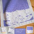 【珠とり屋】手ぬぐい007ハンカチ・紫色/文鳥◆