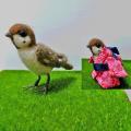 【カリーノピコ】★羊毛置物/スズメA