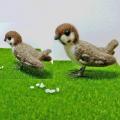 【カリーノピコ】★羊毛置物/スズメB