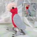 【カリーノピコ】★羊毛インコ/モモイロインコ帽子付き