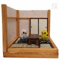【もな工房】★ミニチュア和室/セキセイ・水色&黄緑