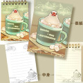 【ことりスイーツ】A7リングメモ帳3/文鳥・白◆クロネコDM便可能