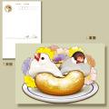 【ことりスイーツ】ポストカード22/文鳥◆クロネコDM便可能