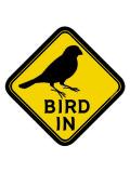 9992057【BMオリジナル】BIRD IN ステッカー 文鳥◆クロネコDM便可能