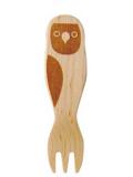9995457【KOTORITACHI】木製フォーク/ボタンインコ