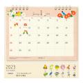 9996148【MIDORI】2020年 リングカレンダー M  トリ柄  30019-006